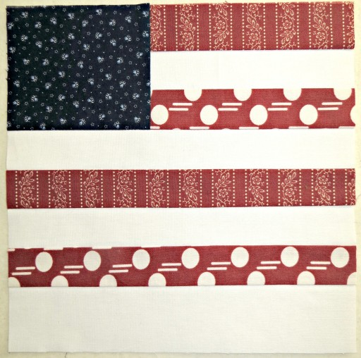 Alycia Quilts QOV Flag Block